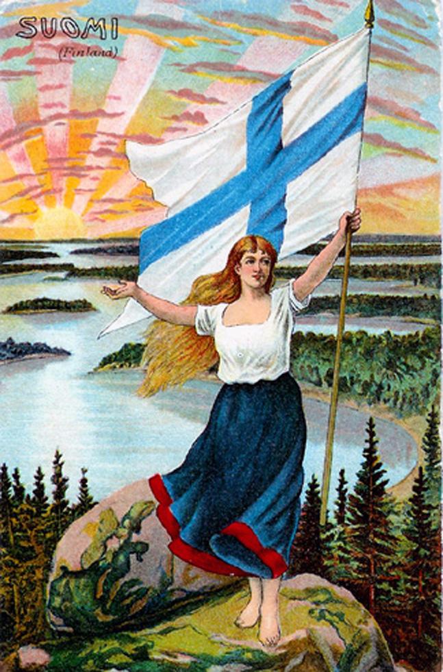 Suomi-neito_lippuineen